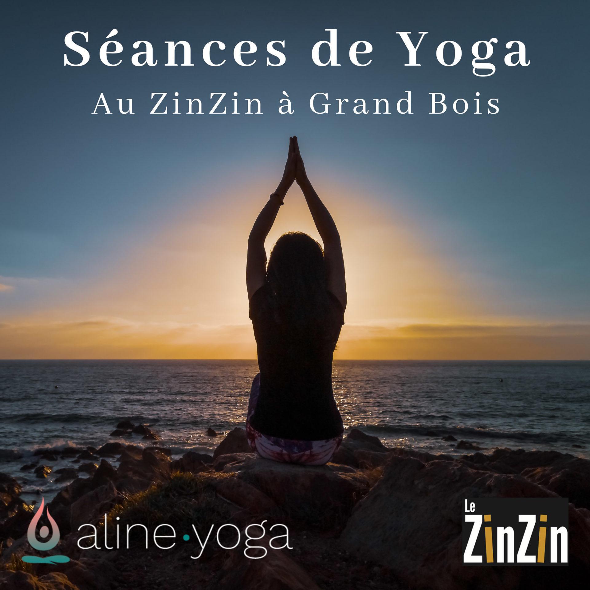 femme en yoga coucher de soleil