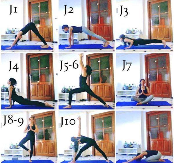 postures de yoga posture du guerrier I Virabhadrasana I