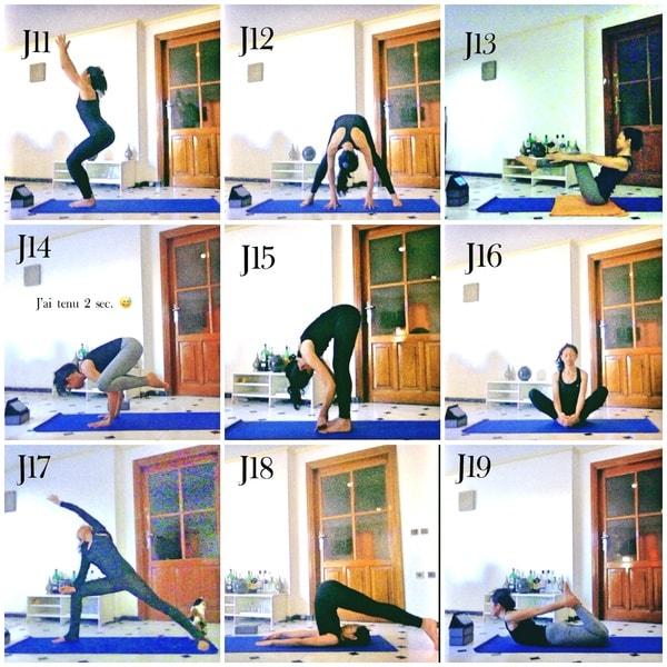 Défi yoga postures de yoga kinoyoga ashtanga yoga
